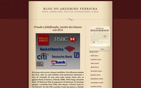 Screenshot of wordpress.com - Blog do Argemiro Ferreira | Mídia, jornalismo, política internacional & mais - captured June 20, 2015