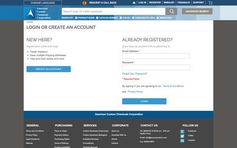 Screenshot of Login Page acccorporation.com - Customer Login  |ACC Corporation - captured Feb. 6, 2016