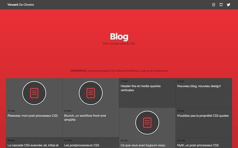 Screenshot of Blog iamvdo.me - Blog - Vincent De Oliveira - CSS & UI - captured Nov. 3, 2014