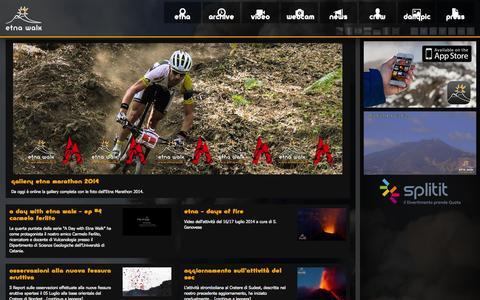 Screenshot of Home Page etnawalk.it - Etna Walk | Foto, news e video sull'Etna - captured Sept. 30, 2014