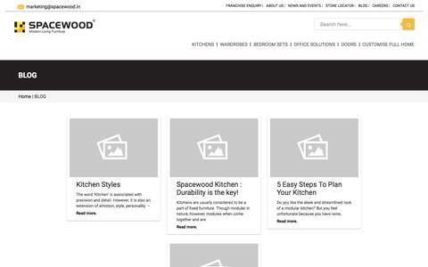 Screenshot of Blog spacewood.in - BLOG - Modular Kitchens, Wardrobes, Living Room, Bedroom Interior Designers - Spacewood.in - Spacewood - captured Sept. 23, 2018