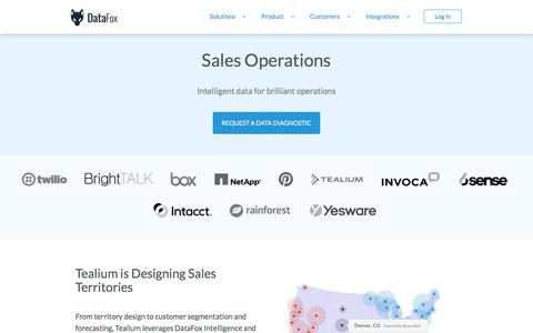 DataFox for Sales Operations