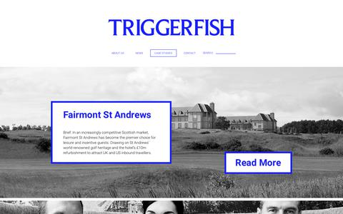 Screenshot of Case Studies Page triggerfish.co.uk - Case Studies - Triggerfish - captured Nov. 9, 2017