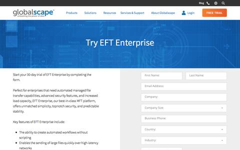 Enterprise EFT Trial | Globalscape
