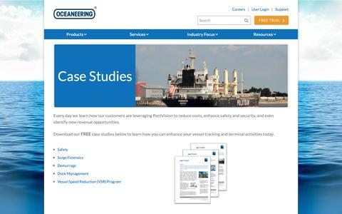 Screenshot of Case Studies Page portvision.com - PortVision | Case Studies - captured Dec. 22, 2018