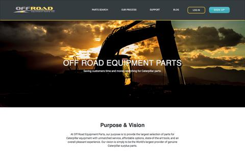 Screenshot of About Page offroadeq.com - About Off Road Equipment Parts, Inc. - captured March 3, 2017