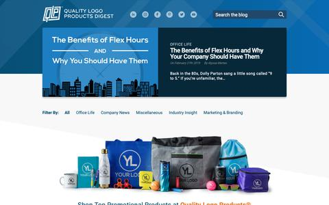 Screenshot of Blog qualitylogoproducts.com - Home - Quality Logo Products Digest | A Promo Products Blog - captured March 13, 2019