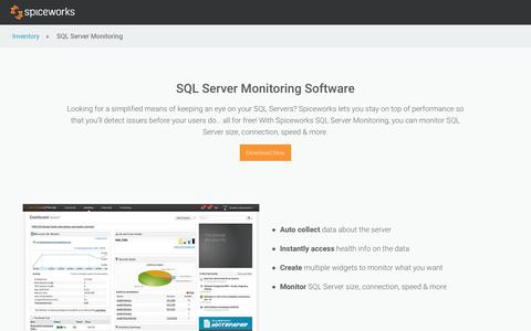 Free SQL Monitor & SQL Server Monitoring Tool from Spiceworks