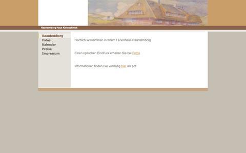 Screenshot of Home Page rtsped.de - Raantemborg - Dünenhaus Raantemborg Sylt - captured Oct. 29, 2018