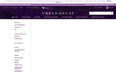 Screenshot of Support Page urbandecay.com - UrbanDecayUS - captured June 6, 2019