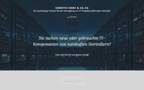Screenshot of Home Page comstex.com - Comstex GmbH & Co. KG – Ihr zuverlässiger Partner bei der Beschaffung von IT-Produkten führender Hersteller - captured Aug. 20, 2017