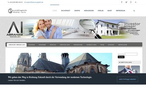 Screenshot of Home Page secure-graphic.de - Security & GraphicArt | Daniela und Frank Leyhe GbR | Design, Security & Fotografie - captured Jan. 25, 2017