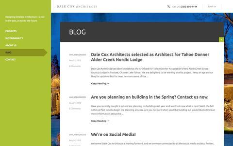 Screenshot of Blog dalecoxarchitects.com - Blog – Dale Cox Architects - captured Jan. 7, 2016