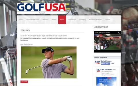 Screenshot of Press Page golfusa.eu - Nieuws | Golf USA Assen - captured Oct. 3, 2014