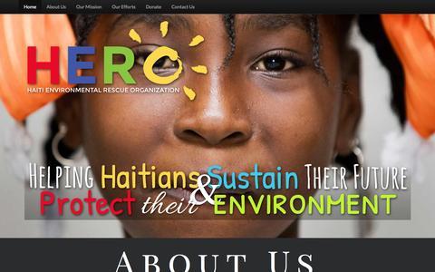 Screenshot of Home Page hero-haiti.org - Hero-Haiti.org - captured March 2, 2016
