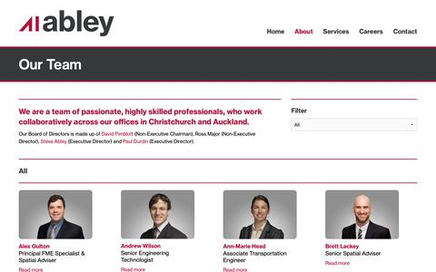 Screenshot of Team Page abley.com - Our Team | Abley - captured Oct. 2, 2018