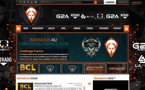 InFamouS Esport - Actu eSport - Professional Gaming Team