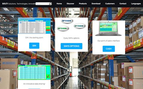 Screenshot of Products Page simple-inventory-manager.com - SIM Inventory Management Software - captured Feb. 12, 2018