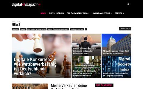 Screenshot of Press Page digital-magazin.de - E-Commerce News | dm - captured Nov. 8, 2018