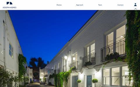 Screenshot of Home Page josephhomes.co.uk - Joseph Homes | Home - captured Sept. 30, 2014