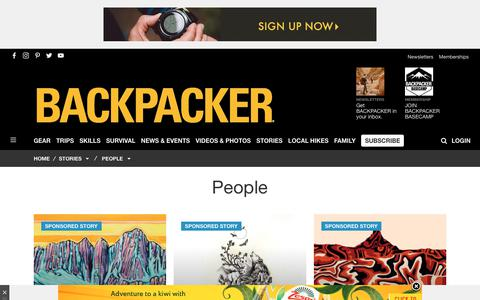 Screenshot of Team Page backpacker.com - People - Backpacker - captured June 28, 2019