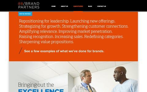 Screenshot of Case Studies Page 88brandpartners.com - Case Studies   88 Brand Partners - captured Oct. 1, 2014