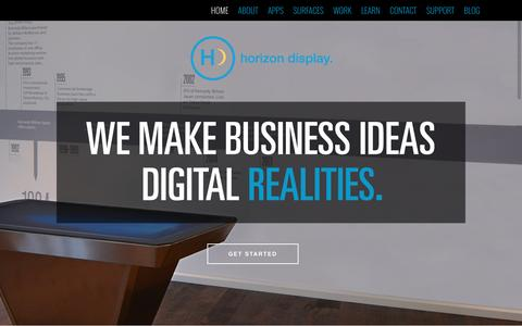 Screenshot of Home Page horizondisplay.com - Interactive Touchscreen Monitor and Software, Horizon Display - captured July 15, 2016