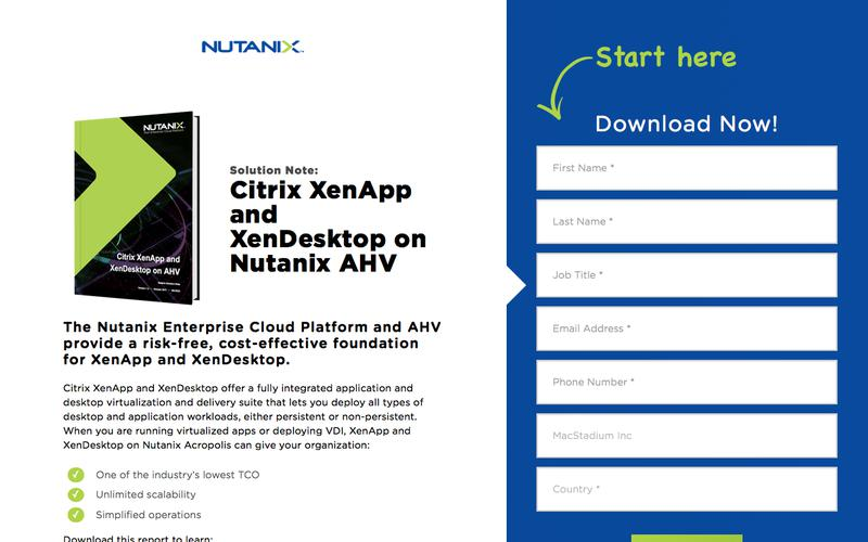 Citrix XenApp and XenDesktop on AHV | Solution Note