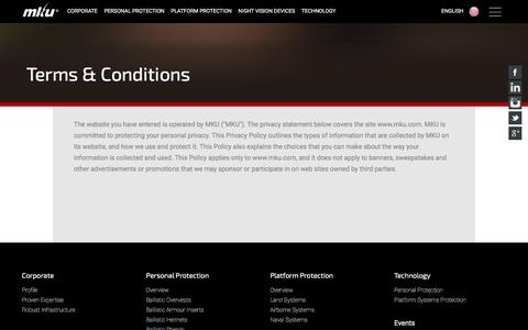 Screenshot of Terms Page mku.com - Terms and Conditions - MKU - captured June 22, 2017