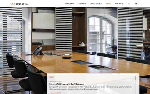 Screenshot of Press Page synergosgr.it - News | Synergo - captured Oct. 6, 2014