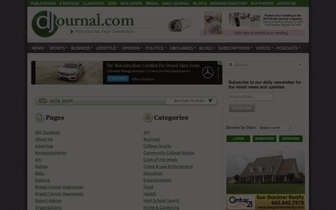 Screenshot of Site Map Page djournal.com - Sitemap - Daily Journal - captured Jan. 30, 2016