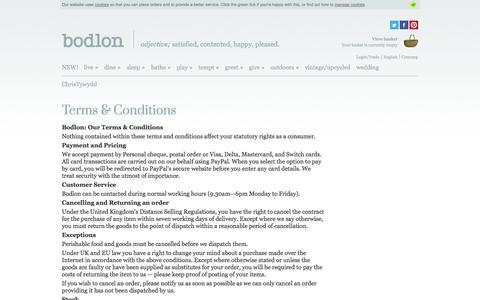 Screenshot of Terms Page bodlon.com - Bodlon Terms & Conditions | Bodlon - captured Oct. 29, 2014