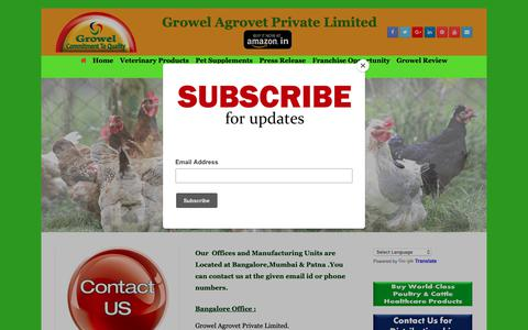Screenshot of Contact Page growelagrovet.com - Contact Us – Growel Agrovet - captured Dec. 16, 2018