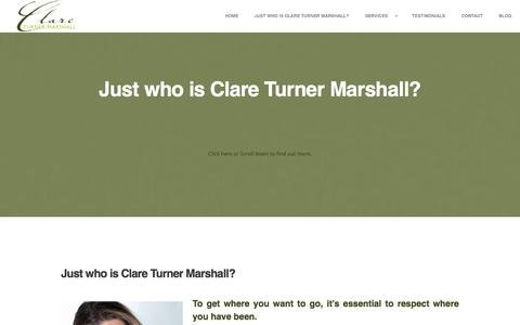 Screenshot of Testimonials Page clareturnermarshall.com - Clare Turner Marshall - captured Oct. 8, 2014