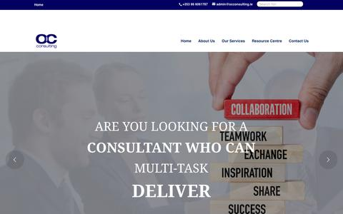 Screenshot of Home Page occonsulting.ie - OC Consulting - captured Nov. 1, 2017