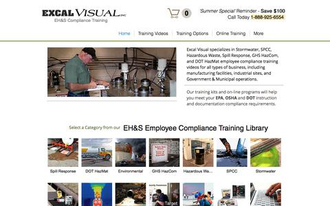 Screenshot of Home Page excalvisual.com - Excal Visual EH&S Training - captured Aug. 27, 2017