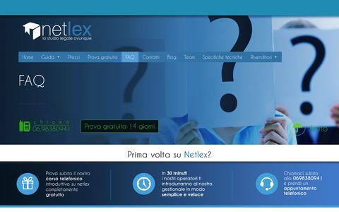 Screenshot of FAQ Page netlexweb.com - FAQ - Netlex - captured Feb. 21, 2016