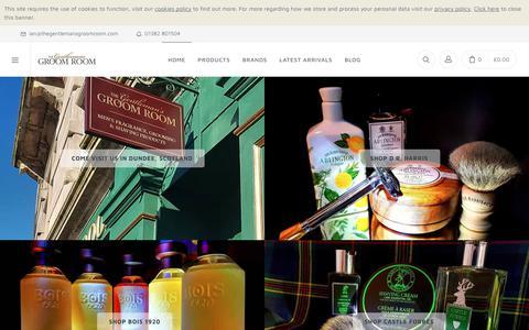Screenshot of Home Page thegentlemansgroomroom.com - The Gentleman's Groom Room - Traditional Shaving & Men's Grooming Specialist Shop, Scotland  - The Gentleman's Groom Room - captured Oct. 22, 2018