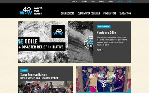 Screenshot of Privacy Page wavesforwater.org - Do what you love and help along the way - Waves For Water - captured Sept. 25, 2014