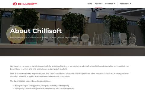 Screenshot of About Page chillisoft.net - About Chillisoft   20 years experience in Cybersecurity   Chillisoft - captured July 17, 2018