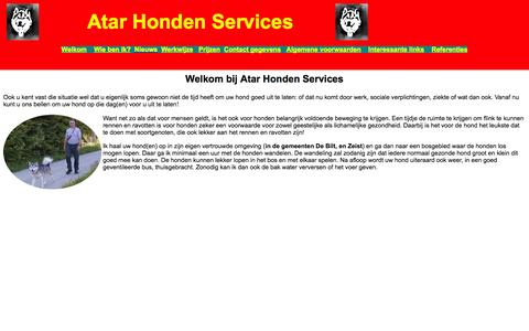Screenshot of Home Page atarhondenservices.nl - ATAR Honden Services - Regio Utrechtse Heuvelrug Noord - captured Sept. 30, 2014