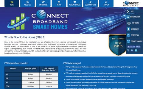 Get High Speed FTTH (Fiber to the Home) Service @Connect