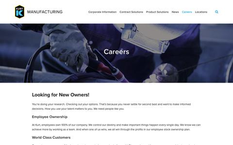 Screenshot of Jobs Page kurt.com - Careers — Kurt Manufacturing | Workholding Solutions | Contract Machining - captured Oct. 16, 2018