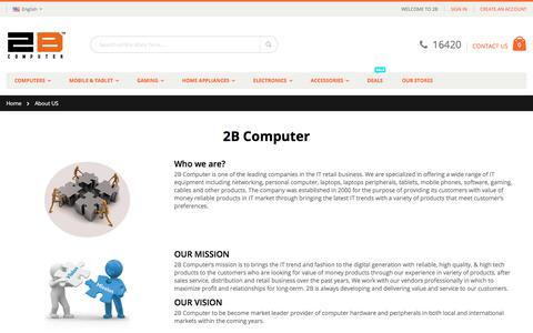 Screenshot of About Page 2bcomputer.com - About US - captured Oct. 29, 2017