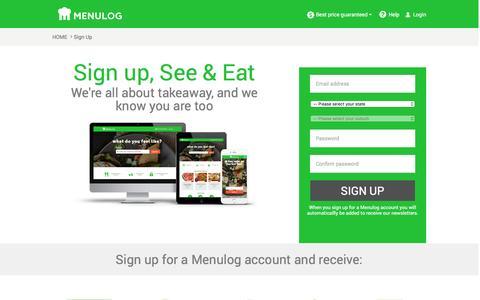 Screenshot of Signup Page menulog.com.au - Receive Menulog Specials & Important Updates - Menulog.com.au - captured April 2, 2017