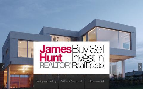 Screenshot of Home Page jameshunt.ca - Toronto Real Estate James Hunt Realtor - captured Oct. 4, 2014