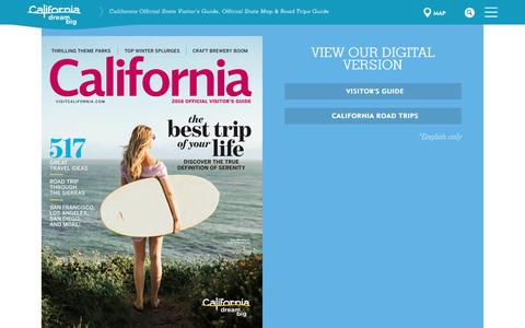 Screenshot of Signup Page visitcalifornia.com - California Official State Visitor's Guide, Official State Map & Road Trips Guide   Visit California - captured Jan. 21, 2016