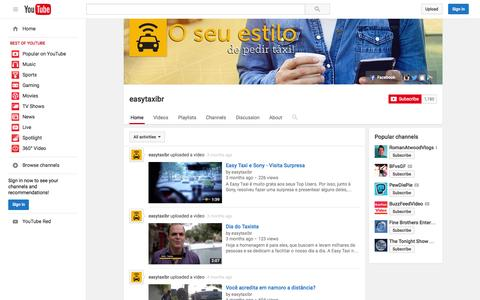 Screenshot of YouTube Page youtube.com - easytaxibr  - YouTube - captured Nov. 10, 2015