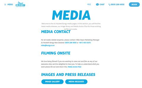 Screenshot of Press Page bungy.co.nz - Media - AJ Hackett - captured Sept. 22, 2018