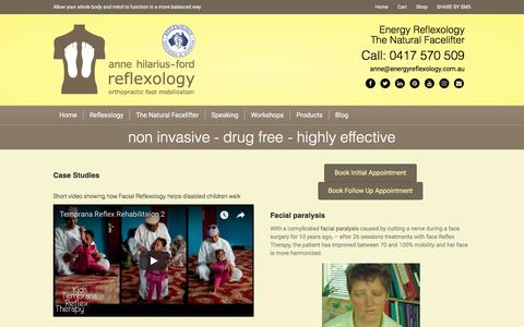 Screenshot of Case Studies Page energyreflexology.com.au - Case Studies – Energy Reflexology - captured Oct. 8, 2017
